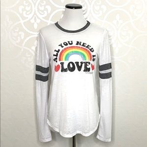 ALL YOU NEED IS LOVE LONG SLEEVED TEE